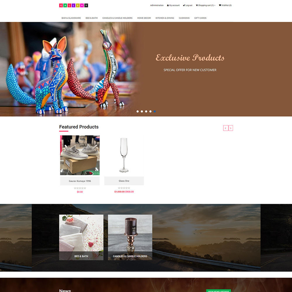Picture of Gallery Theme + 3 Plugins (by nopExtensions.com)