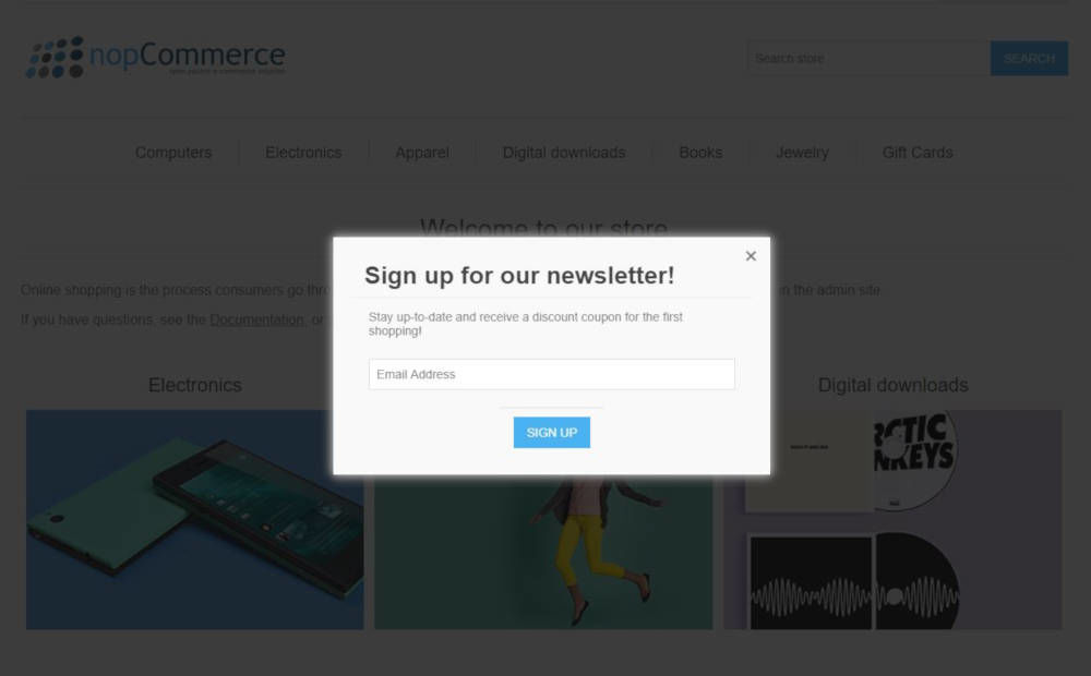 Picture of Discount Newsletter Plugin (nop4you.com)