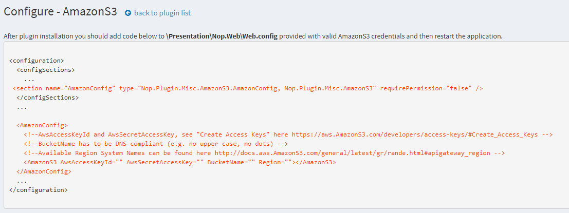 Picture of nopCommerce Amazon S3 (nop4you.com)