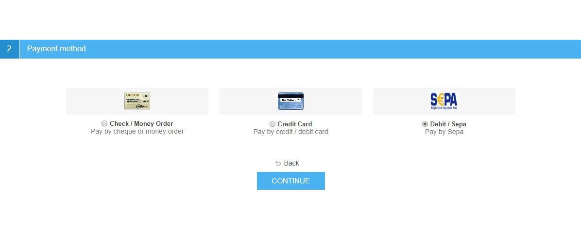 Picture of SEPA direct debit
