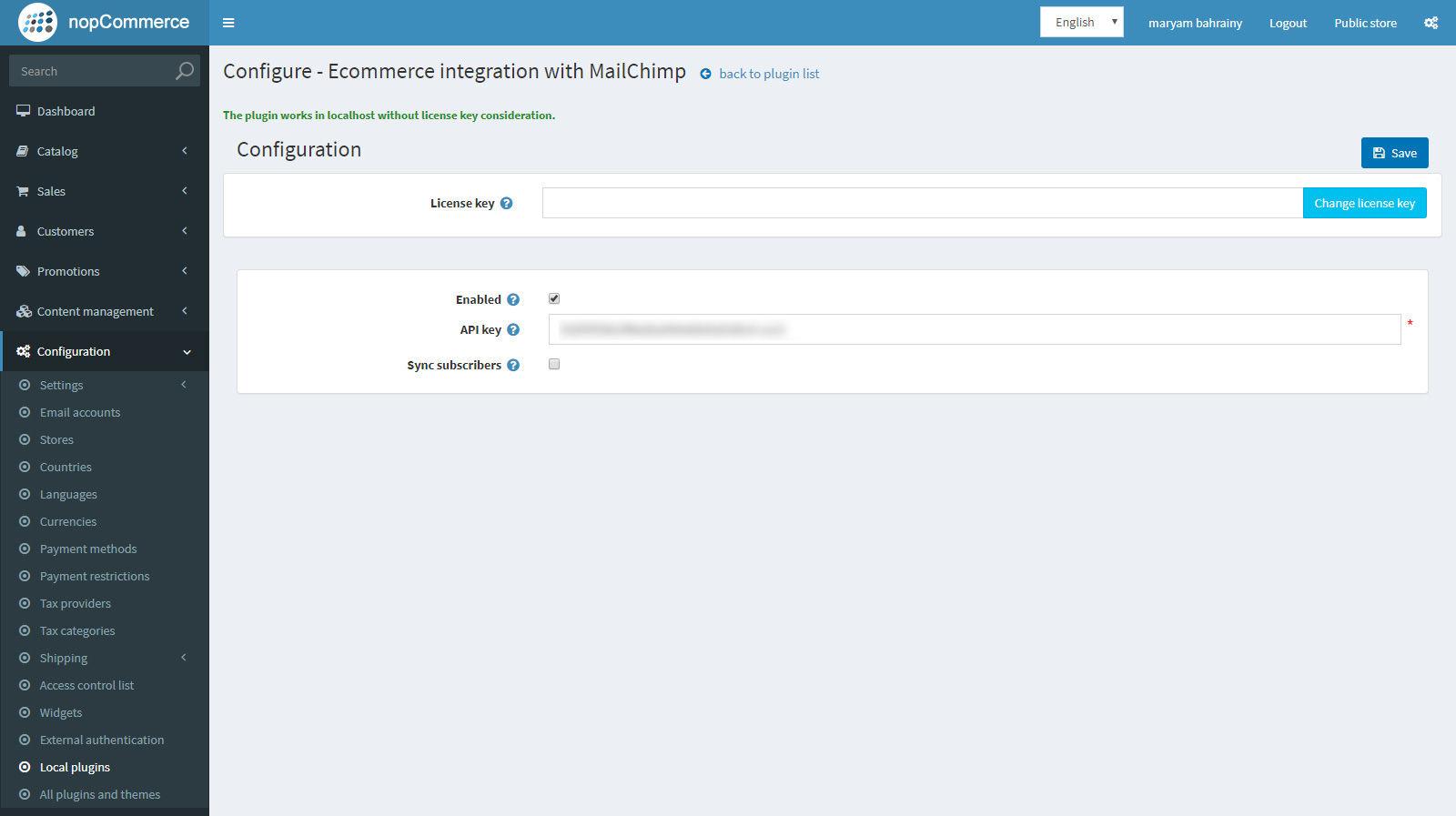 Изображение MailChimp integration
