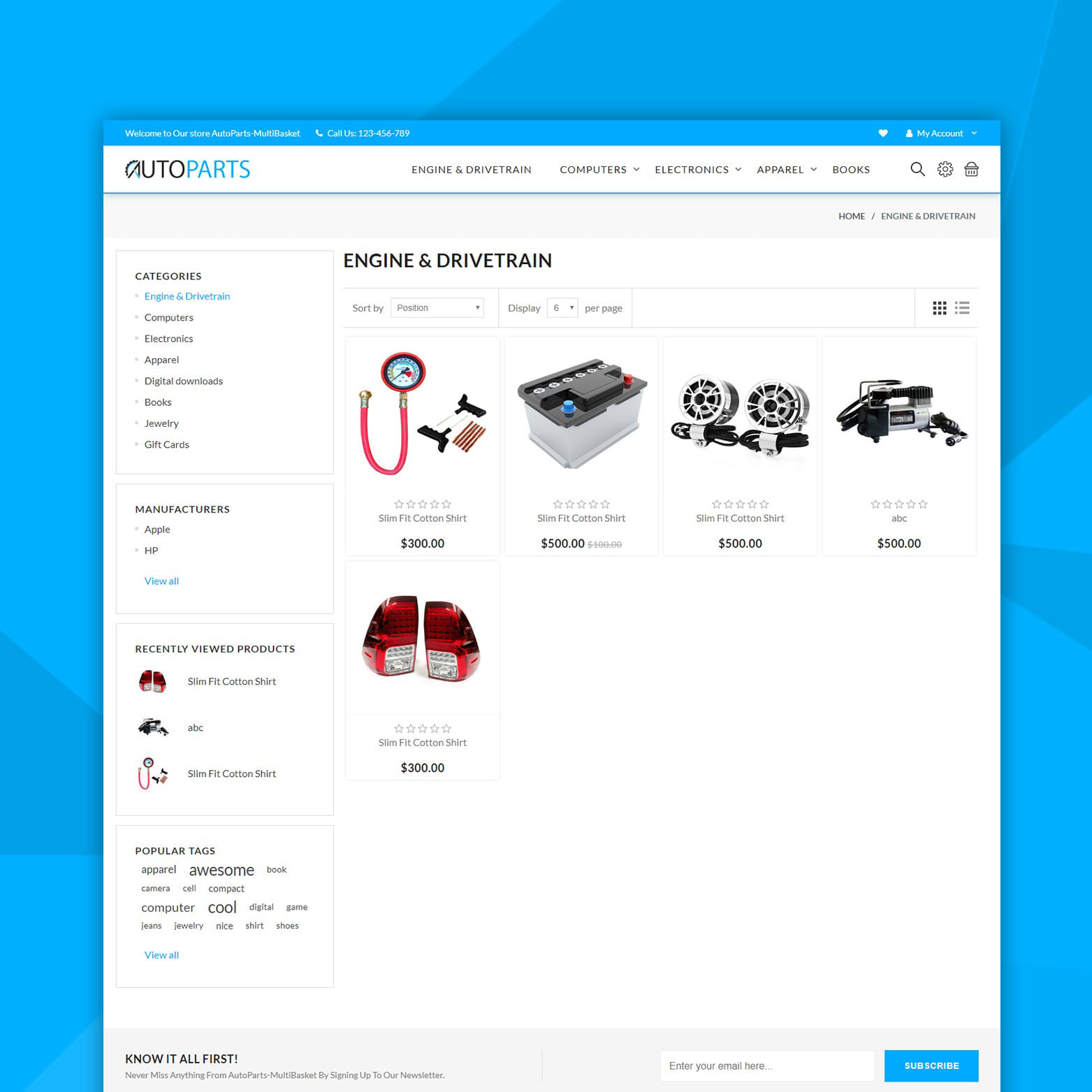 Изображение AutoParts Theme (By nopCommercePlus)