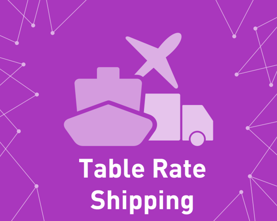 Bild von Table Rate Shipping (foxnetsoft.com)