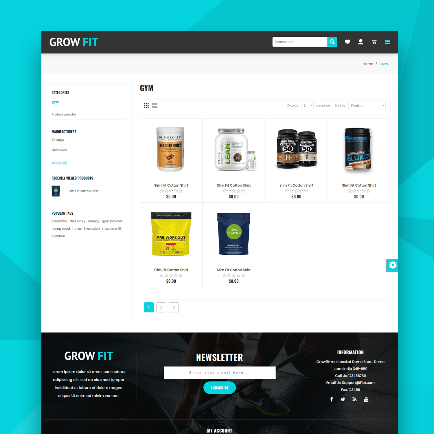 Picture of GrowFit Theme (By nopCommercePlus)
