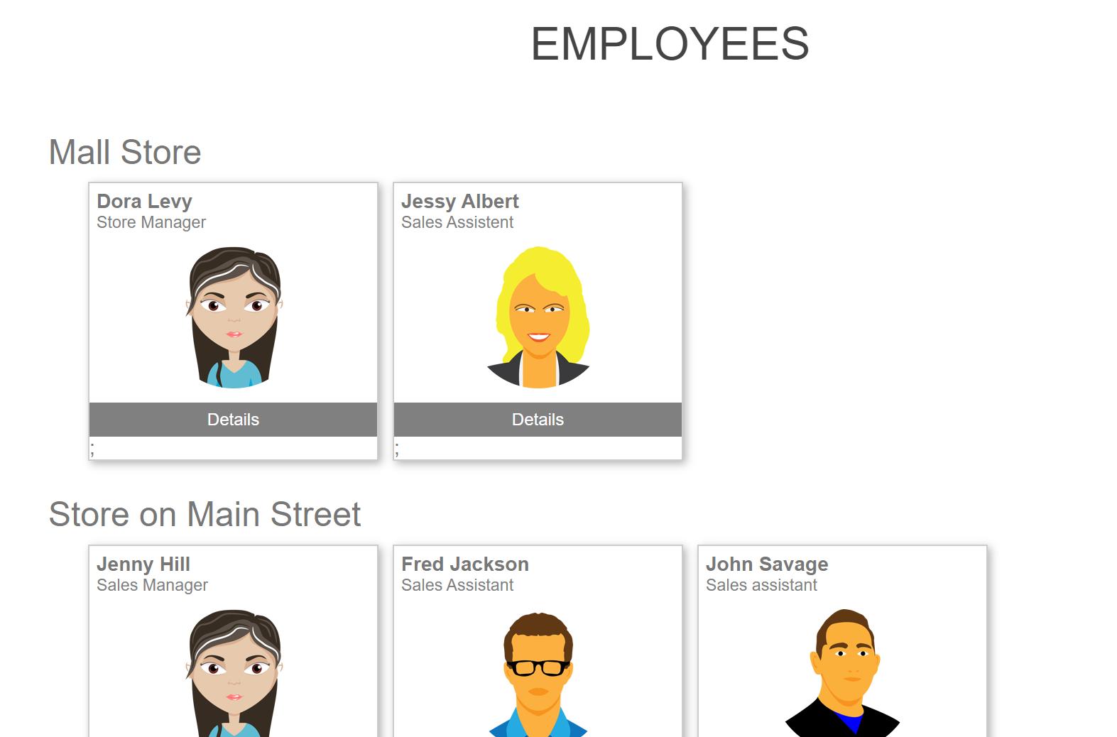 Bild von Employee list