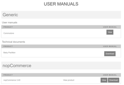 Picture of User manuals