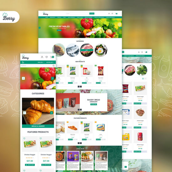 Picture of Nop Berry theme, responsive + bundle plugins