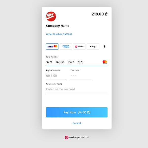 Imagen de UniPay payment plugin (Georgia)