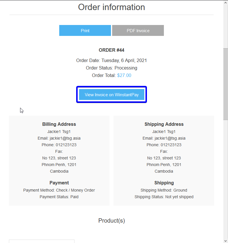Picture of WinstantPay Invoice Presentment