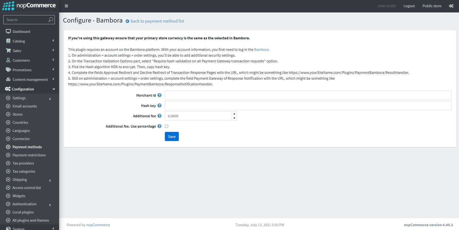 Imagem de Bambora payment module