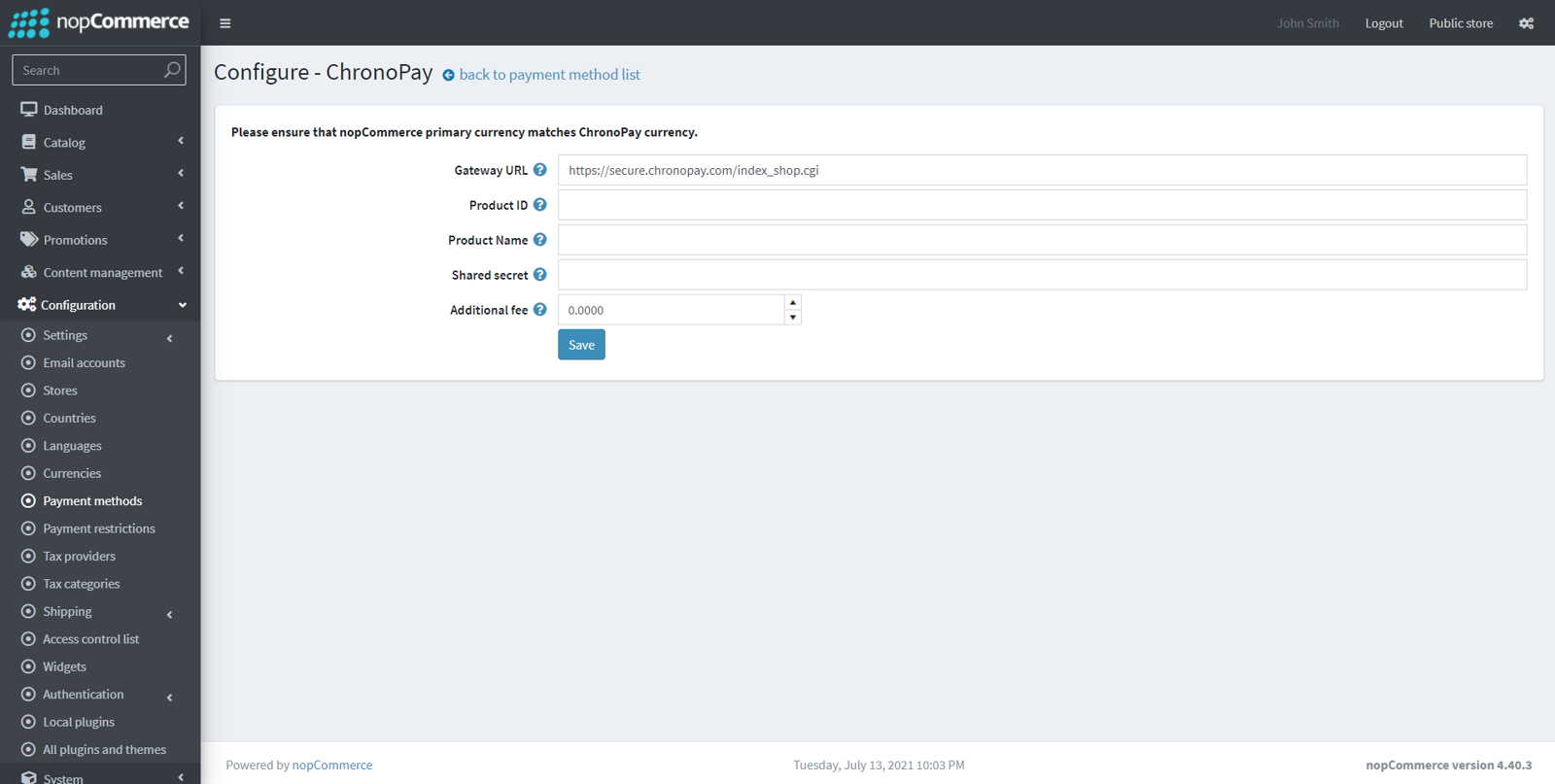 Picture of ChronoPay payment module