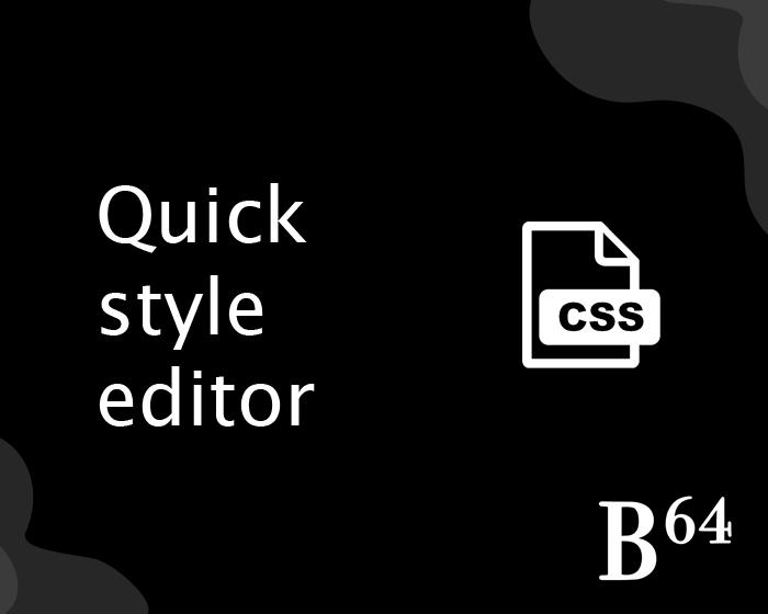 Imagem de Quick Style Editor (CSS)
