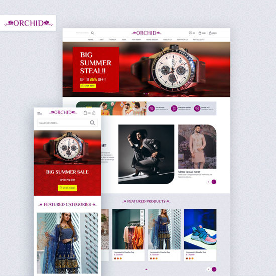 Picture of nopStation Orchid Theme, Responsive + bundle plugins